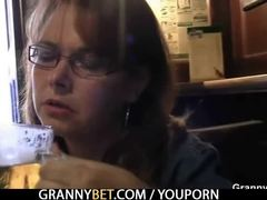 Grandmother, Game, Bar, Pussy, Old, Granny, Mature, Old woman, Pickup
