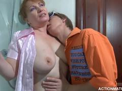 Grandmother, Cougar, Mature, Huge, Young, Fucking, Natural tits, Granny, Blowjob, Old and young, Russian, Mom and boy, Wife, Titty fuck, Boobs, Old, Mommy, Big tits, Tits, Cock, Sucking