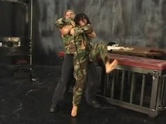 Old woman, Xs girls, Military, 3 some, Lingerie, Cage, Lesbian, Brunette, Sex, Group, Milf, Old, Femdom, Army, Tits, Bdsm, Old man
