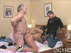 Old and young, Russian, Fat, Group, Teen, Hardcore, 3 some, Fucking, Old, Blowjob, Dad and girl, Amateurs, Old man