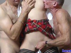 Old and young, Group, British, Milf, Spitting, European, Old, Oral, Facial, Young, 3 some