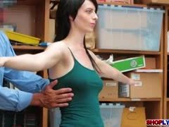 Reality, Striptease, Milf, Pornstar, Office, Police, At work, High definition, Brunette, Clothes ripped, Softcore