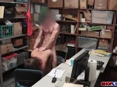 Punished, Monster cock, Office, Big cock, Police, At work, Cock, Brunette, Blowjob, Doggystyle, Handjob, Bent over, Garage, Outdoor, Public, Horny, High definition, Shop