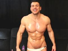 Oiled, Fantasy, Hunk, Cum, Bodybuilder, Muscular, Gay, Flexible, Roleplay