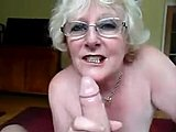Grandmother, Cum, Granny, Swallow, Cum in mouth, Blowjob