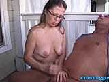 Cougar, Mature, Relax, Handjob, Wanking, Homemade, Milf, Outdoor, Husband, Mommy, Close-up, Saggy tits, Amateurs, Big tits